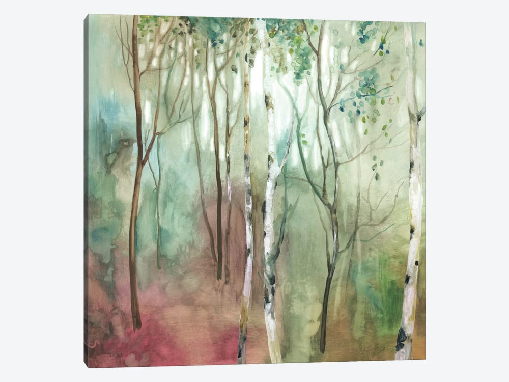 Birch In The Fog I by Allison Pearce 1-piece Canvas Art Print