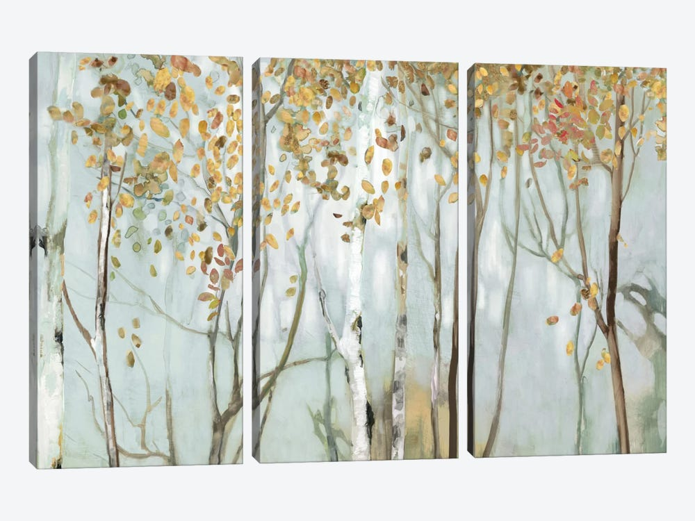 Birch In The Fog II by Allison Pearce 3-piece Canvas Artwork