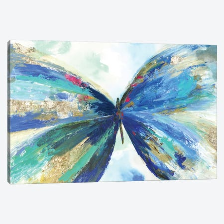 Blue Butterfly Canvas Print #ALP233} by Allison Pearce Canvas Print