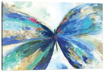 Blue Butterfly Canvas Art Print