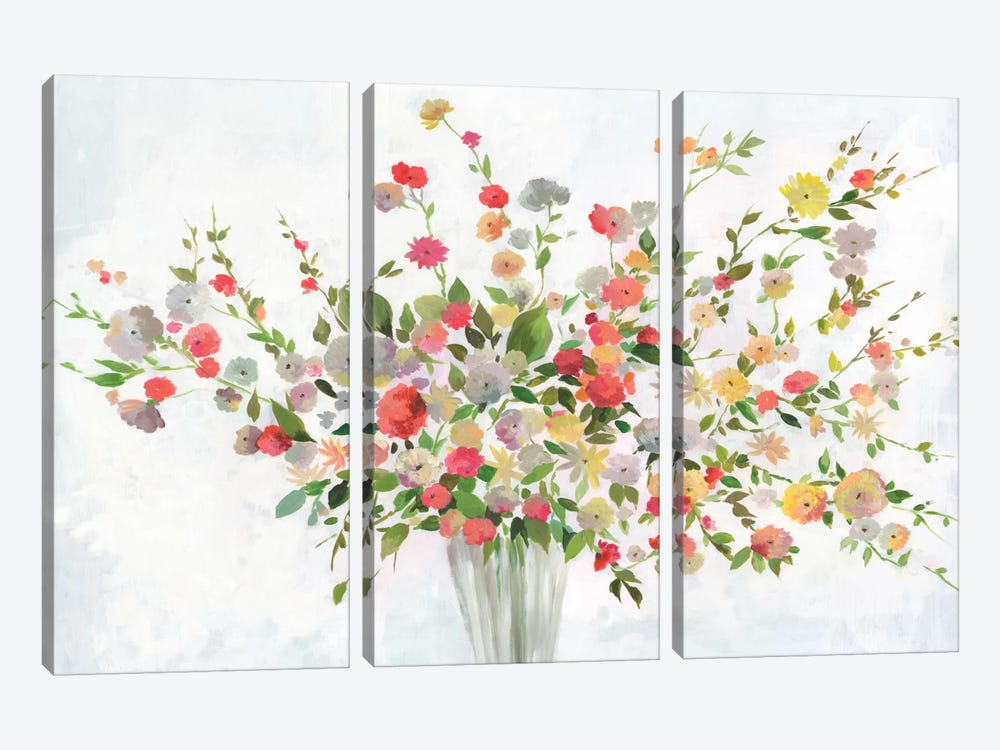 New Spring Bouquet by Allison Pearce 3-piece Canvas Wall Art