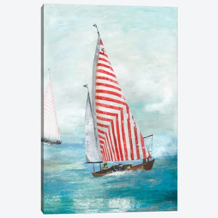 Red Sails Canvas Print #ALP241} by Allison Pearce Canvas Artwork