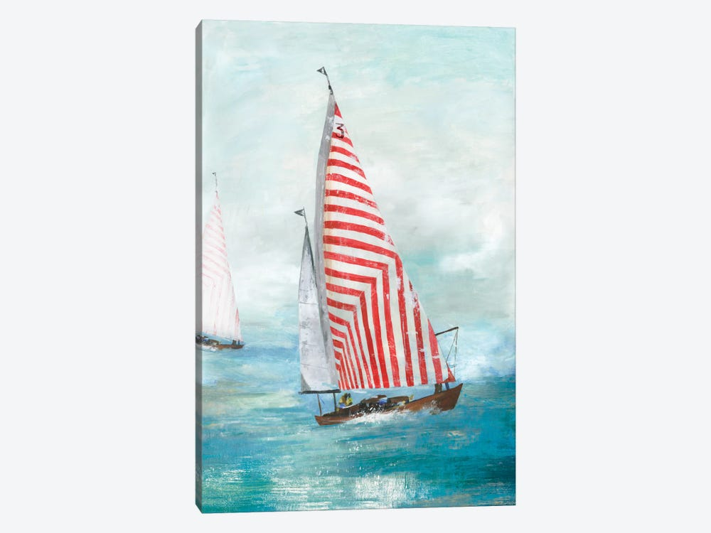 Red Sails by Allison Pearce 1-piece Canvas Art
