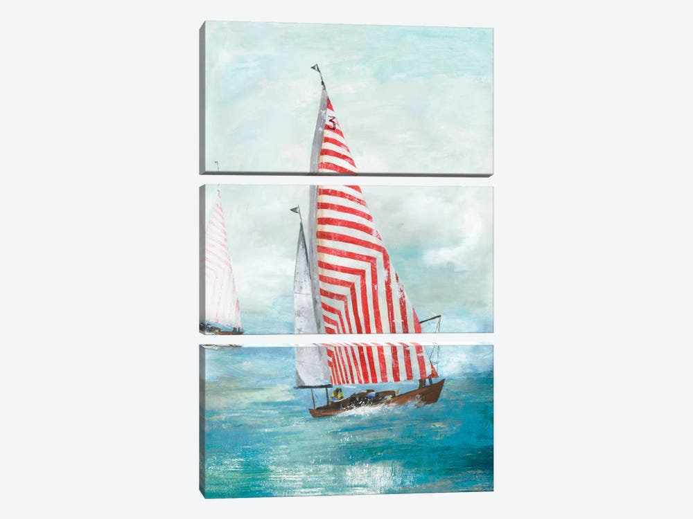 Red Sails by Allison Pearce 3-piece Canvas Artwork