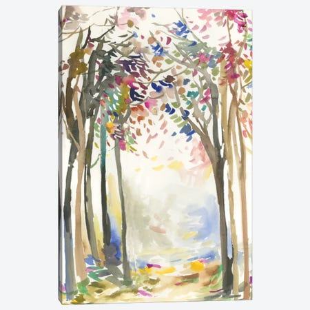 Sunny Path I Canvas Print #ALP246} by Allison Pearce Art Print