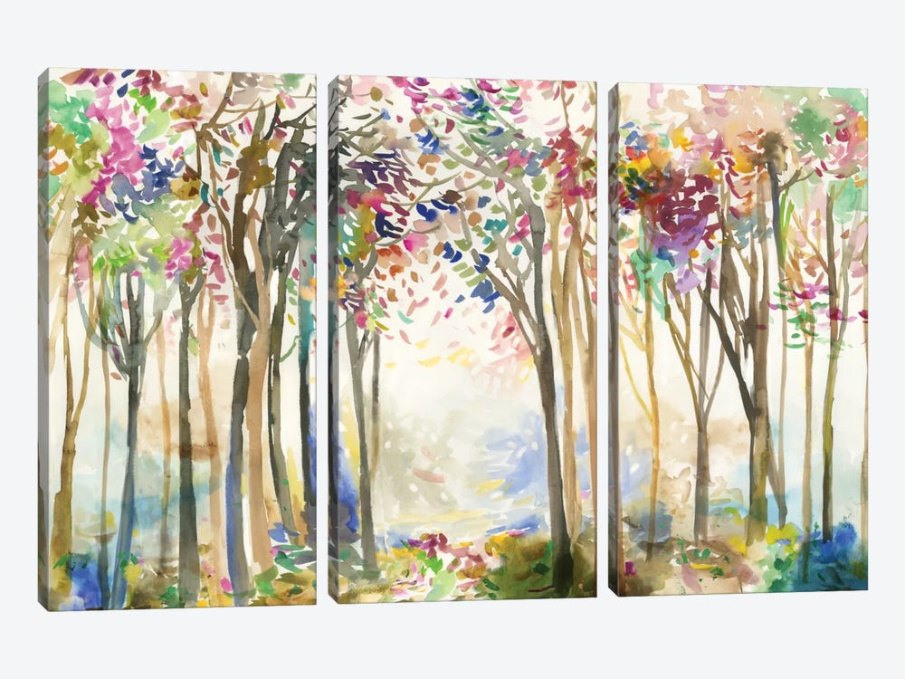 Sunny Path II by Allison Pearce 3-piece Canvas Wall Art