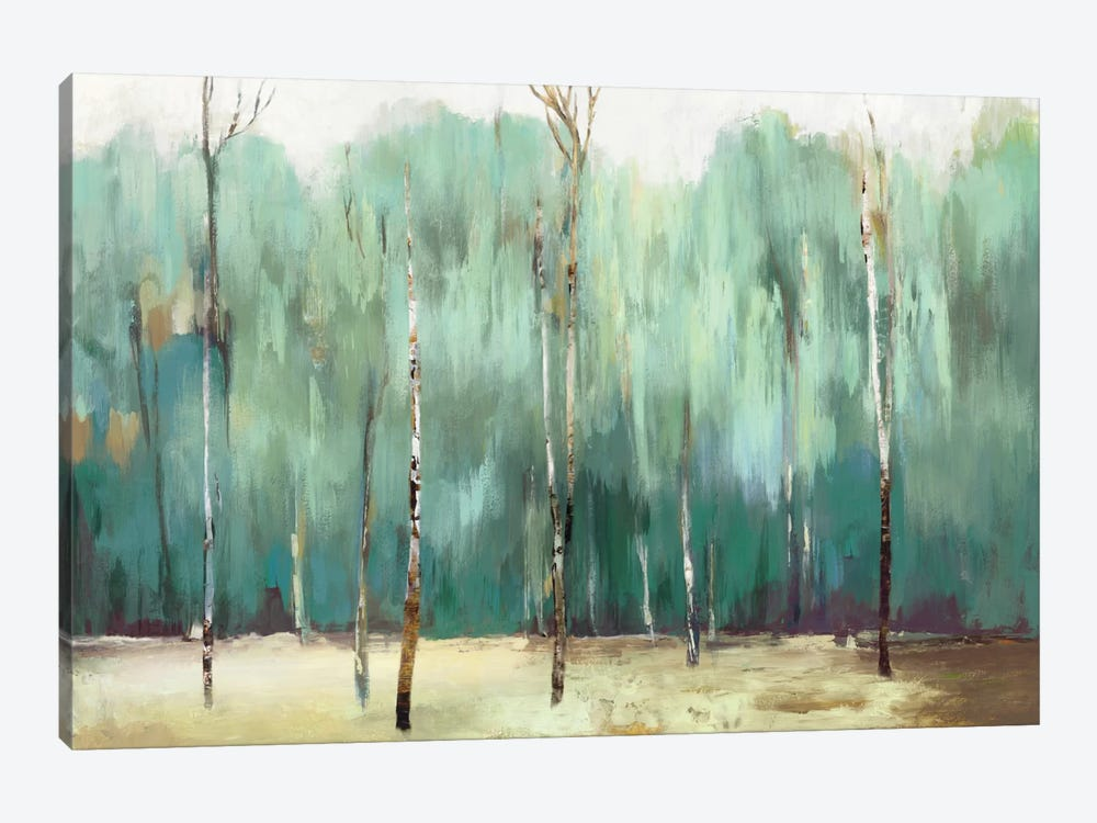 Teal Forest 1-piece Canvas Print
