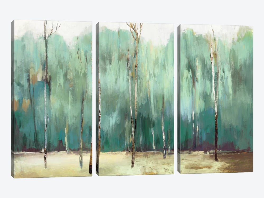 Teal Forest by Allison Pearce 3-piece Canvas Art Print