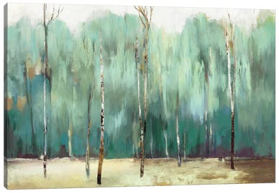 Teal Forest Canvas Art Print