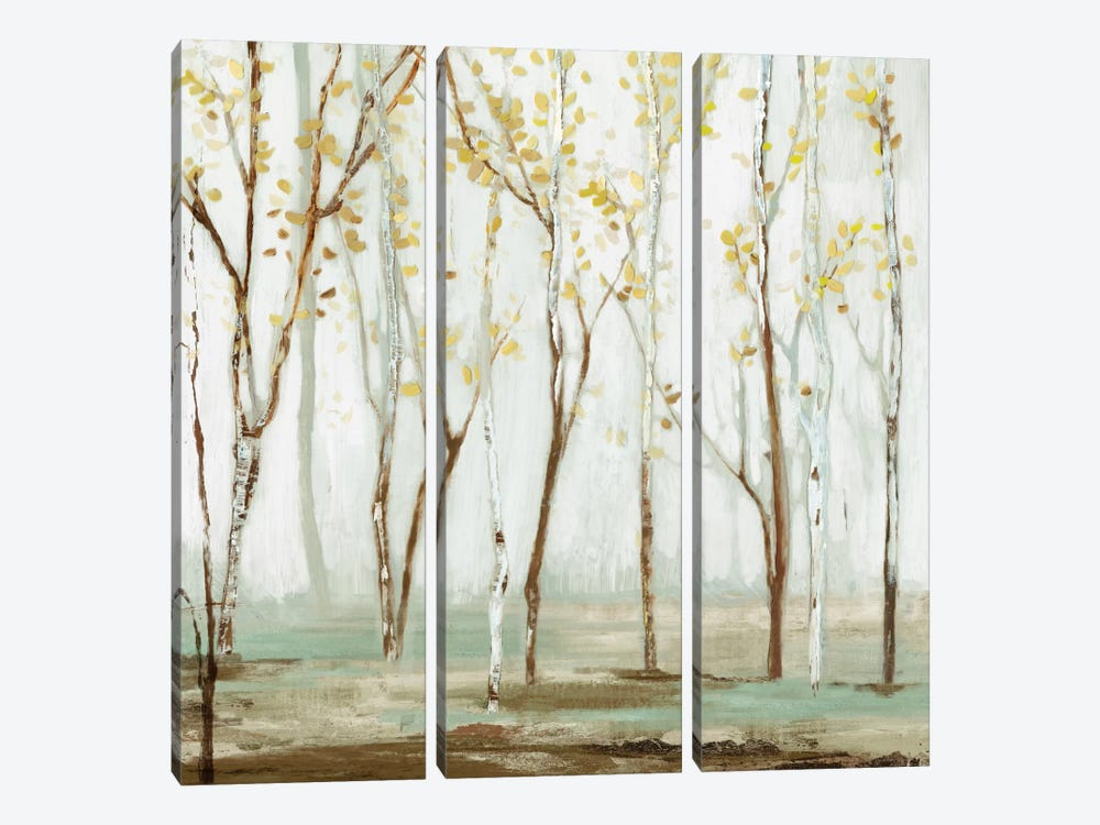 White On White Landscape by Allison Pearce 3-piece Canvas Wall Art