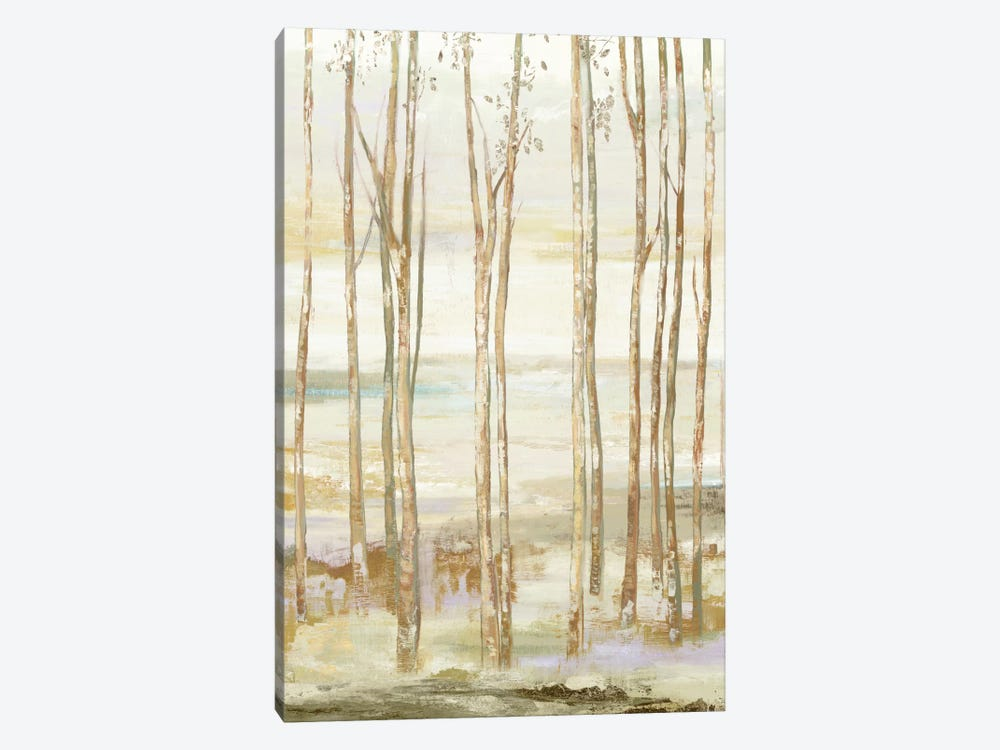 White On White Trees by Allison Pearce 1-piece Canvas Art Print