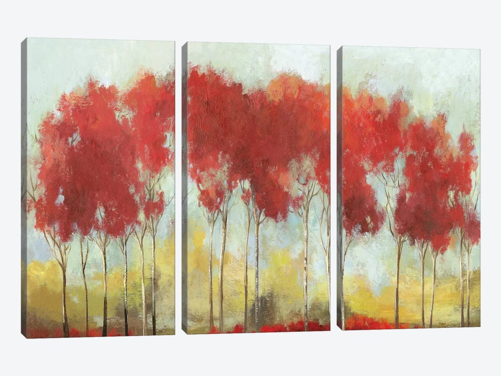 A Fall Day Breeze by Allison Pearce 3-piece Canvas Art