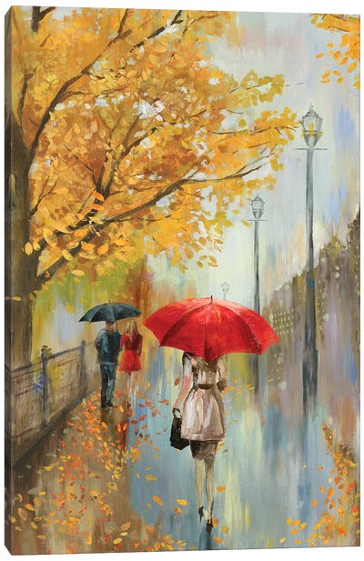 Across The Avenue Canvas Art Print
