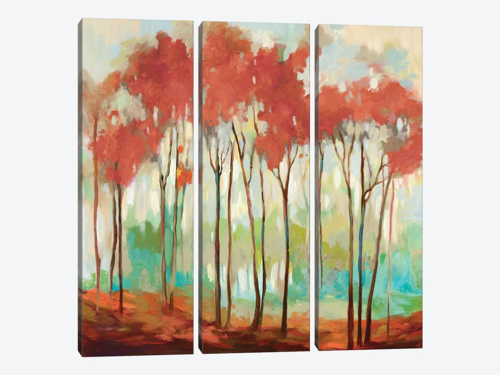 Beyond The Treetop by Allison Pearce 3-piece Canvas Art