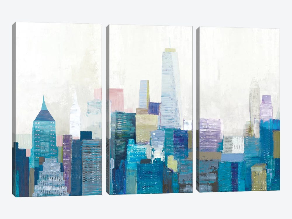 City Life II by Allison Pearce 3-piece Canvas Wall Art