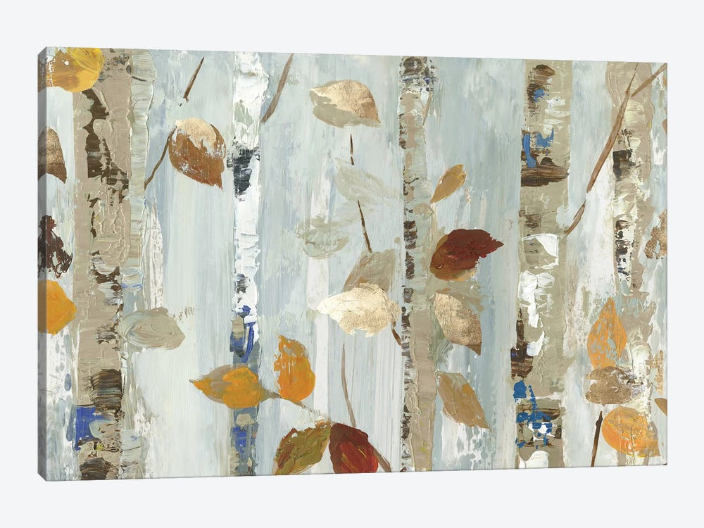 Leaves On Birch by Allison Pearce 1-piece Canvas Art Print
