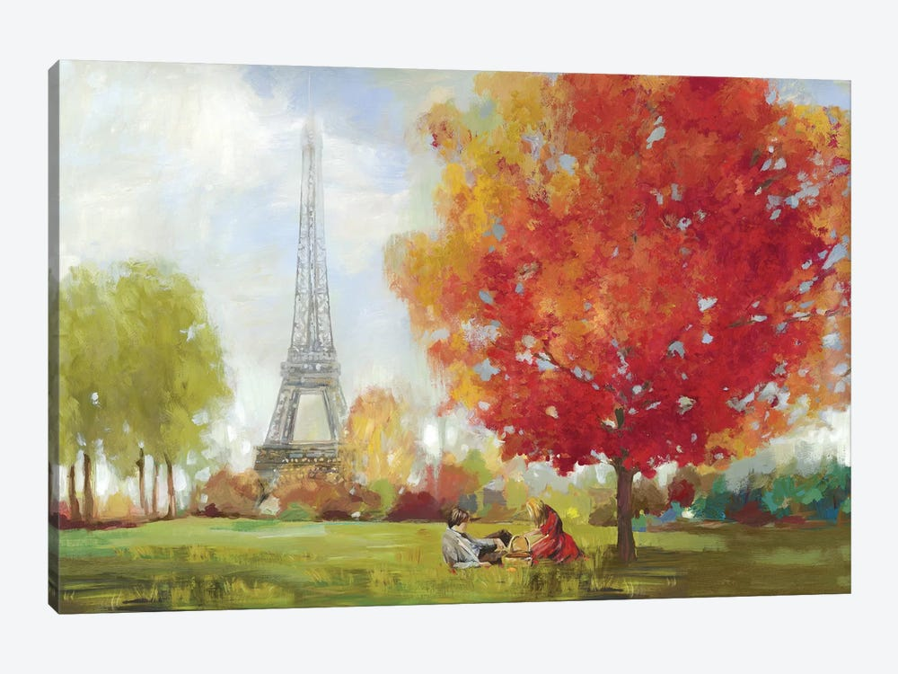 Paris Field by Allison Pearce 1-piece Canvas Art Print