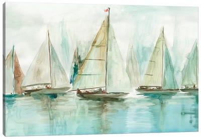 Blue Sailboats I  Canvas Art Print