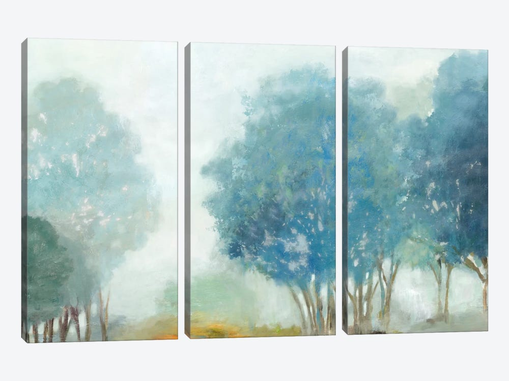 Blueberry Hill by Allison Pearce 3-piece Canvas Art Print