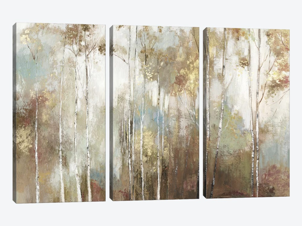 Fine Birch III by Allison Pearce 3-piece Canvas Wall Art