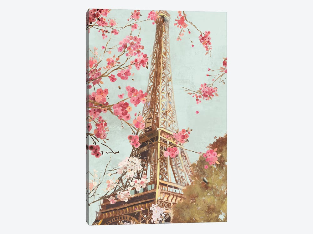 Paris In The Spring I by Allison Pearce 1-piece Canvas Art Print