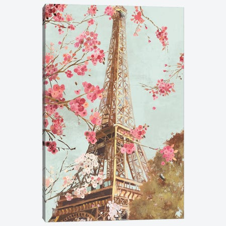 Paris In The Spring I Canvas Print #ALP297} by Allison Pearce Canvas Wall Art