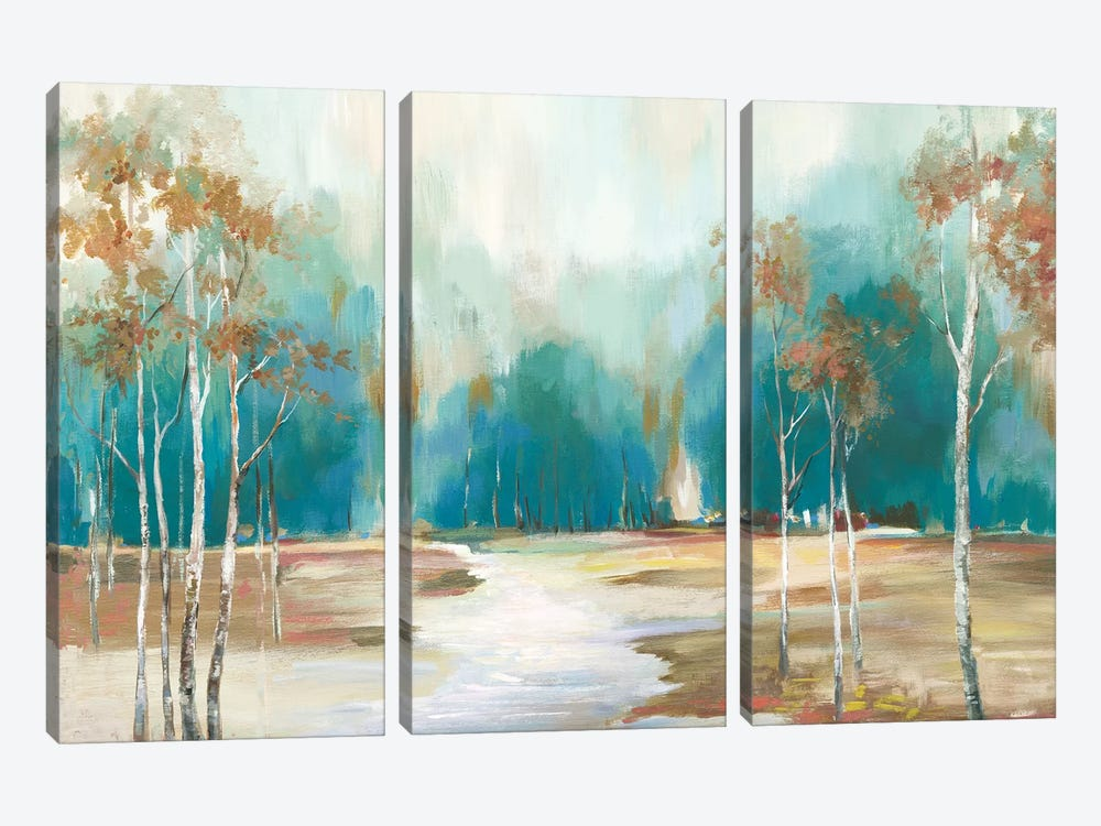 Pathway To The Forest by Allison Pearce 3-piece Canvas Art Print