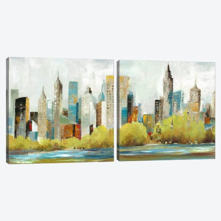 Hudson Ferry Diptych Canvas Print Set #ALP2HSET001} by Allison Pearce Canvas Artwork
