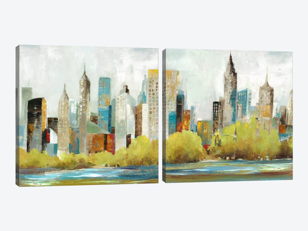 Hudson Ferry Diptych by Allison Pearce 2-piece Canvas Artwork
