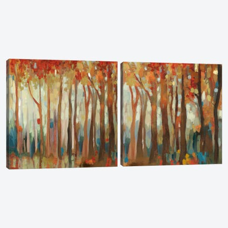 Marble Forest Diptych Canvas Print Set #ALP2HSET003} by Allison Pearce Canvas Wall Art