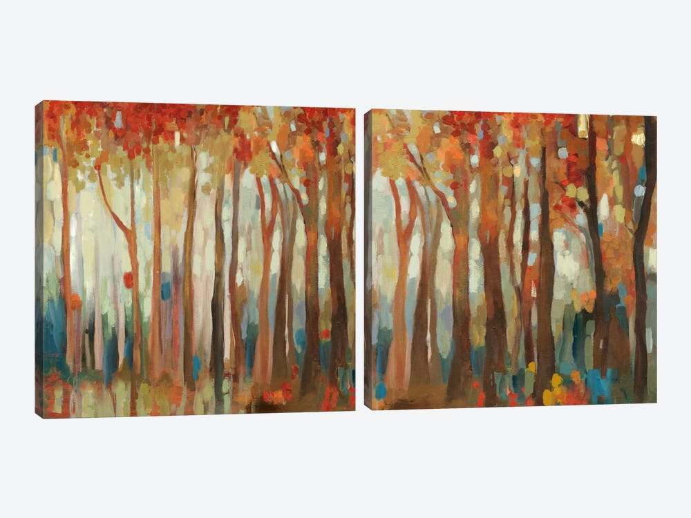 Marble Forest Diptych by Allison Pearce 2-piece Canvas Artwork