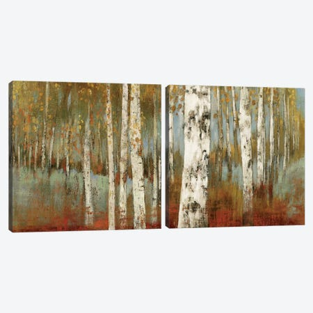 Along The Path Diptych Canvas Print Set #ALP2HSET005} by Allison Pearce Canvas Print