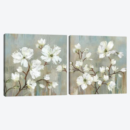 Sweetbay Magnolia Diptych Canvas Print Set #ALP2HSET006} by Allison Pearce Canvas Art Print