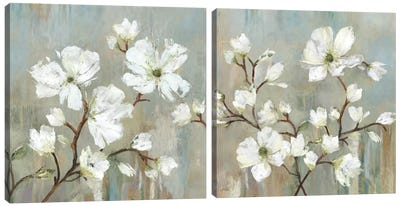 Sweetbay Magnolia Diptych Canvas Art Print