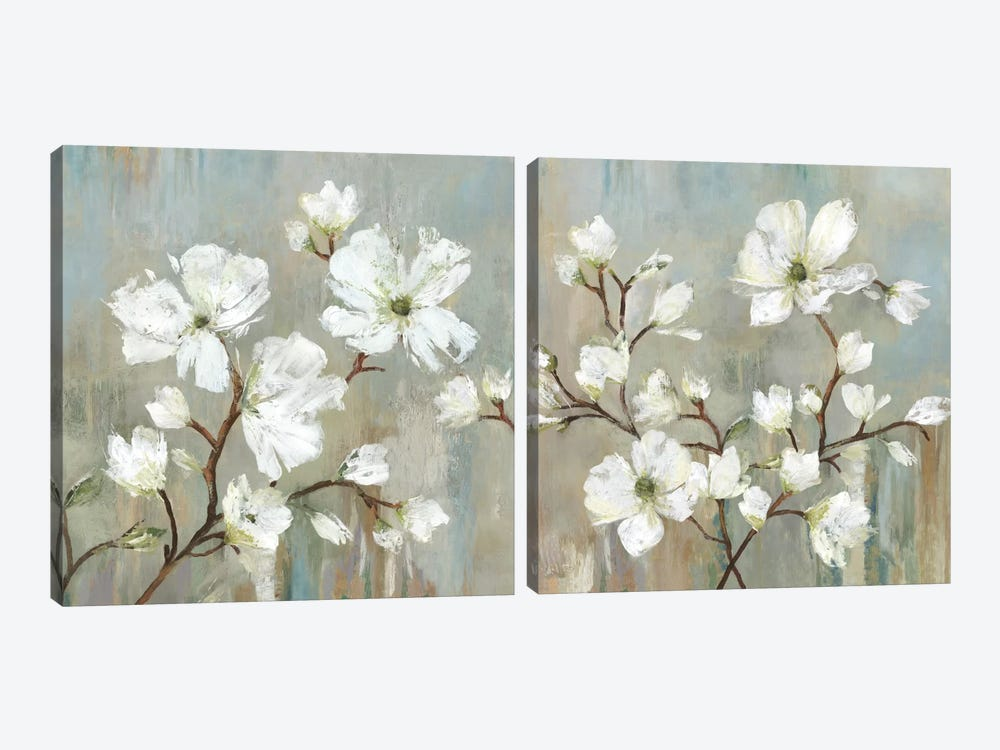 Sweetbay Magnolia Diptych by Allison Pearce 2-piece Canvas Print
