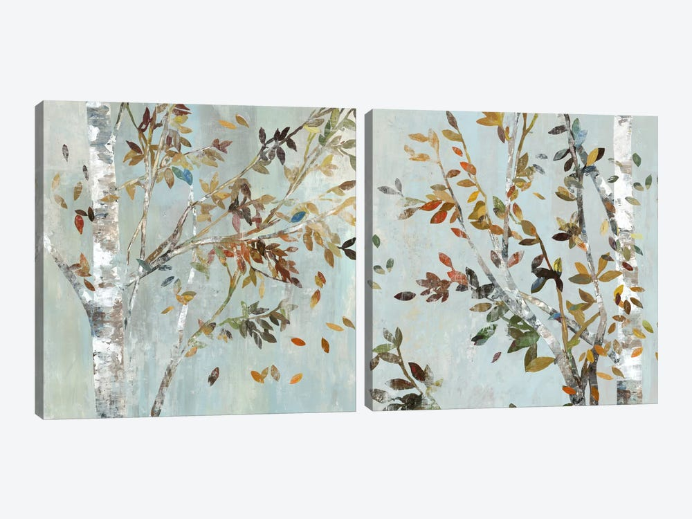Birch With Leaves Diptych by Allison Pearce 2-piece Canvas Art