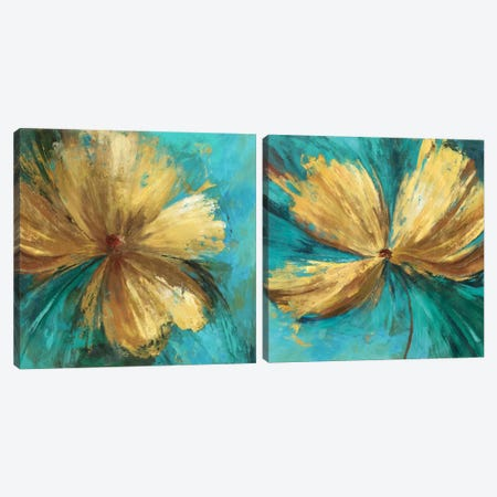 Chardonnay Diptych Canvas Print Set #ALP2HSET008} by Allison Pearce Canvas Wall Art