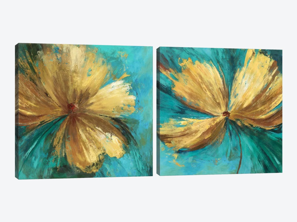 Chardonnay Diptych by Allison Pearce 2-piece Canvas Print