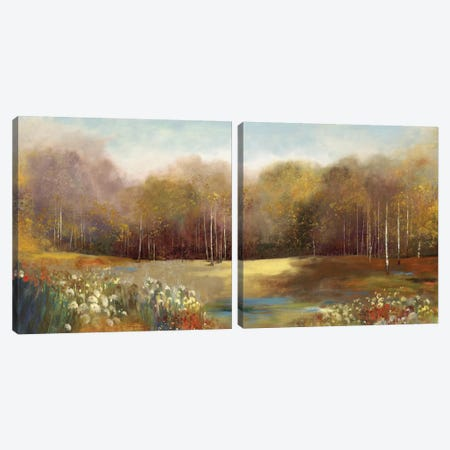 Garden Dreams Diptych Canvas Print Set #ALP2HSET011} by Allison Pearce Canvas Print