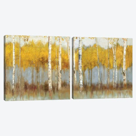 Golden Grove Diptych Canvas Print Set #ALP2HSET012} by Allison Pearce Canvas Print