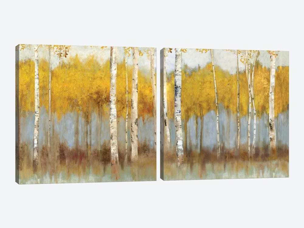 Golden Grove Diptych by Allison Pearce 2-piece Canvas Wall Art