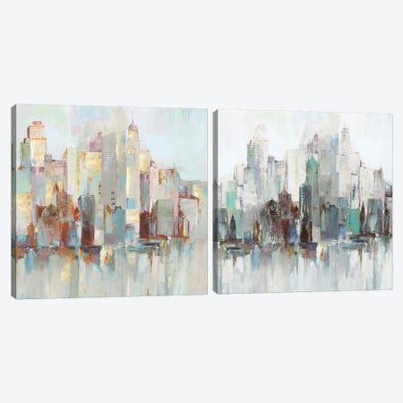 City Escape Diptych Canvas Print Set #ALP2HSET014} by Allison Pearce Canvas Art
