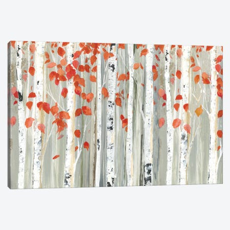 Red Leaves Canvas Print #ALP302} by Allison Pearce Canvas Art Print