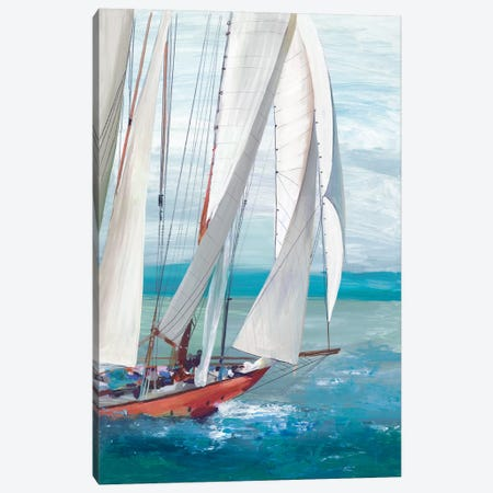 Single Sail I Canvas Print #ALP304} by Allison Pearce Canvas Art