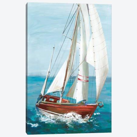 Single Sail II Canvas Print #ALP305} by Allison Pearce Canvas Art