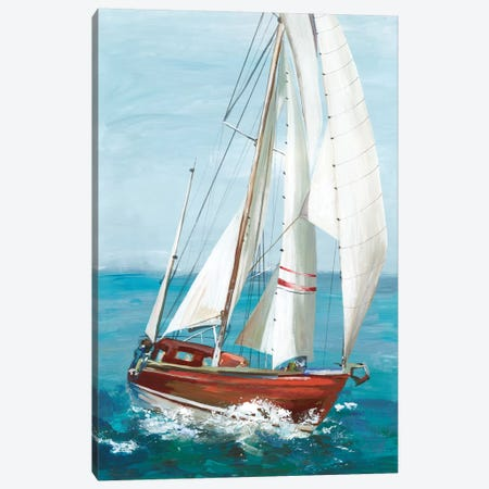 Single Sail II Canvas Print #ALP305} by Allison Pearce Canvas Art