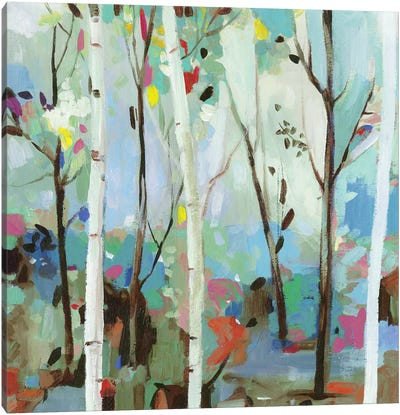 Birchwood Forest  Canvas Art Print