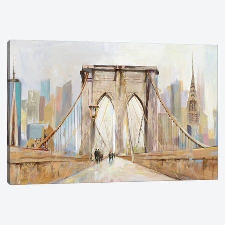 Brooklyn Bridge Walkway Canvas Print #ALP315} by Allison Pearce Art Print