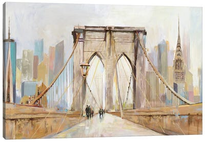 Brooklyn Bridge Walkway Canvas Art Print