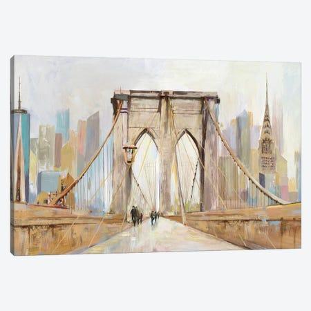Brooklyn Bridge Walkway Canvas Print #ALP315} by Allison Pearce Art Print